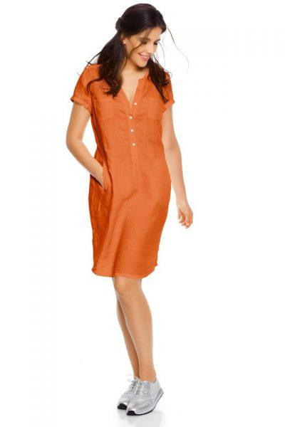 NU 15% KORTING: Linnen jurk