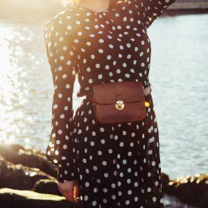 Maxi-jurk met polkadots