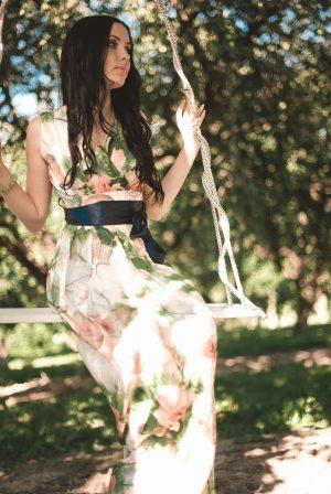 Zomerse maxi-jurk