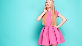 Roze mini jurk