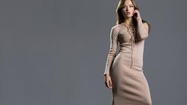 Gebreide jurk herfst