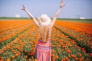 Gekleurde lange jurk zomer