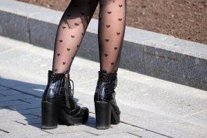 Zwarte panty's met patroon trendy
